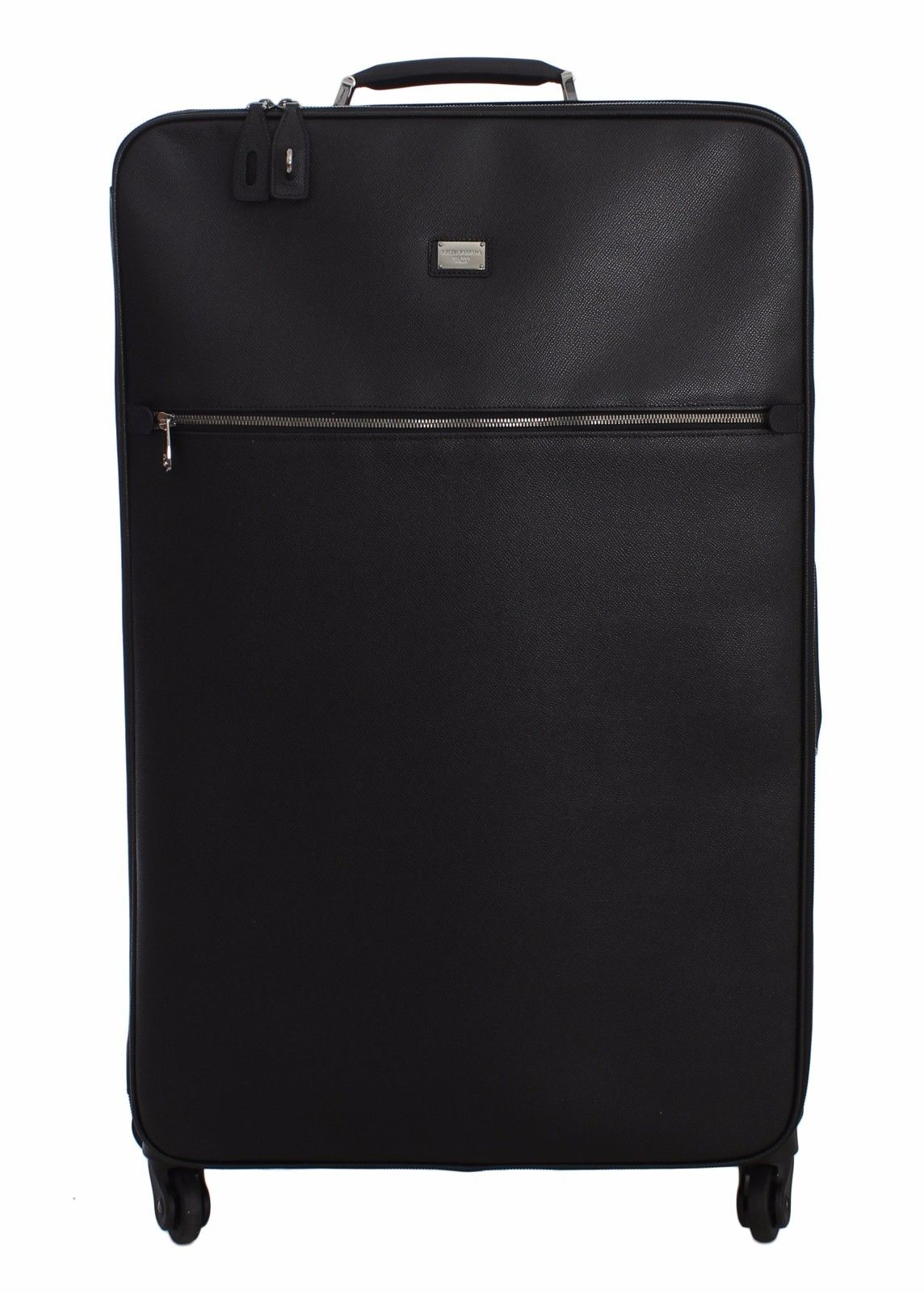 4d2871c20b7e Luggage Bag Black Leather Travel Suitcase Trolley