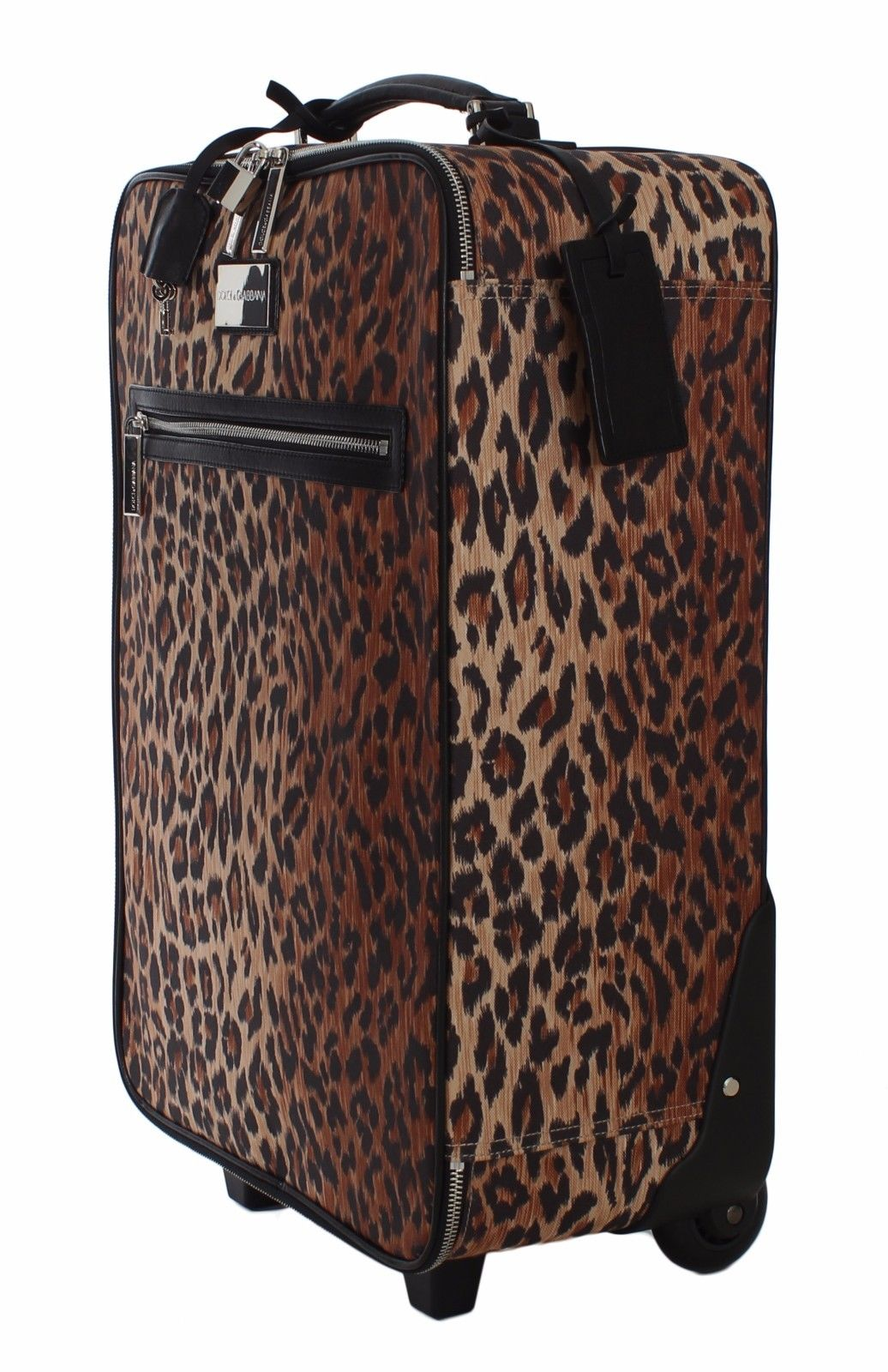 Trolley Leopard Cabin Luggage Gabbana Bag amp; Travel Dolce Suitcase WqgF8Tnx