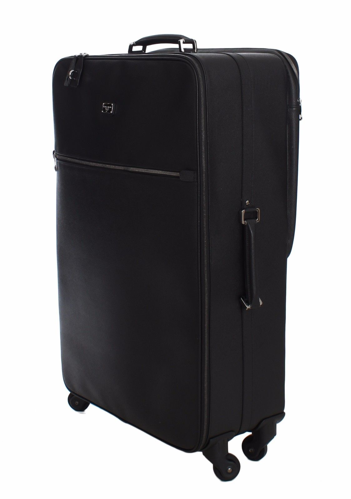 989d621f27 Dolce   Gabbana Luggage Bag Black Leather Travel Suitcase Trolley ...
