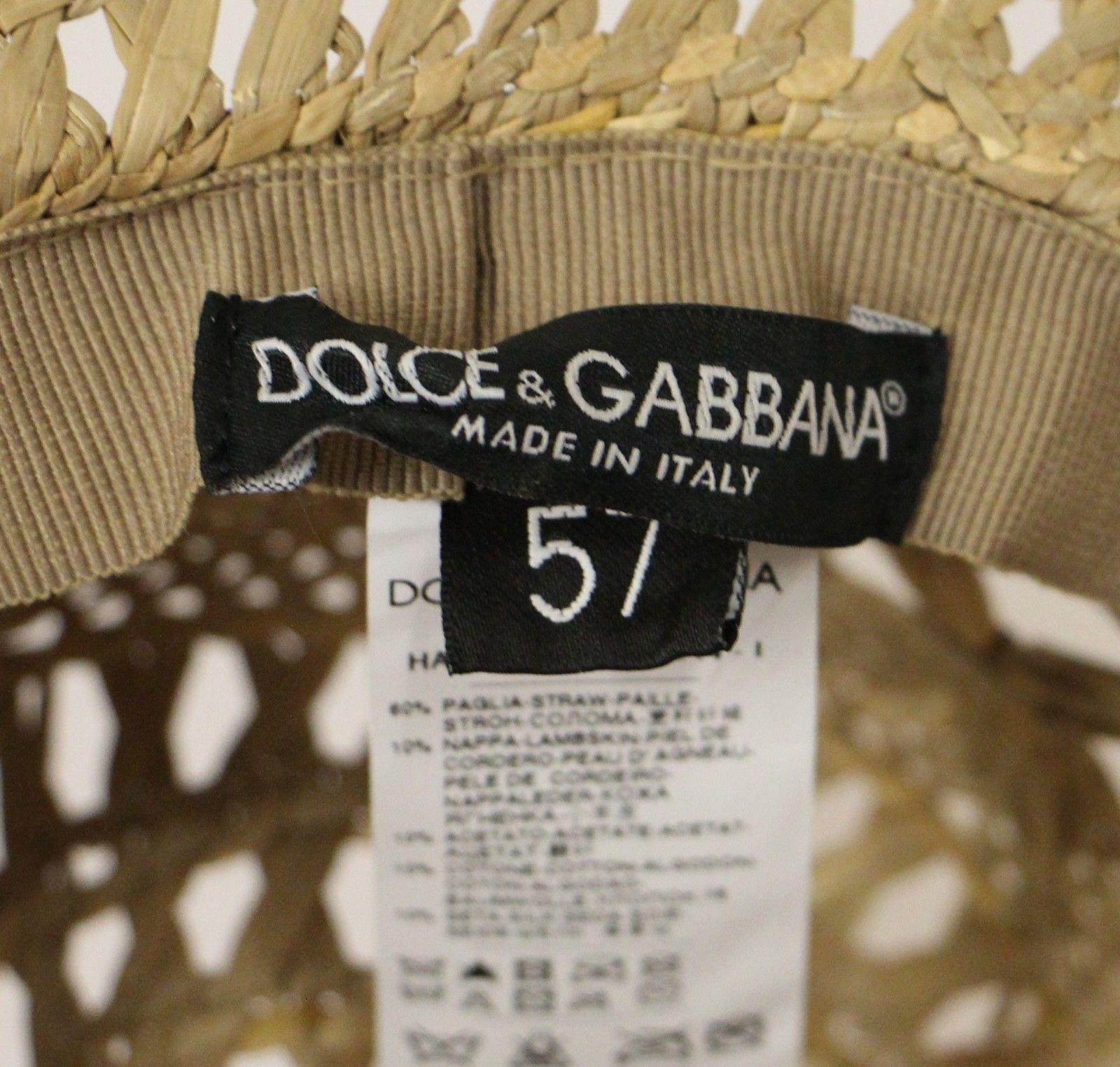 415c830f9d5ee Dolce   Gabbana Beige Catwalk Floral Fedora Trilby Hat Capello • Top ...