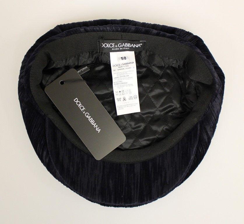 dbd734442e9 Dolce   Gabbana Blue Cotton Logo Hat Cabbie • Brands Vice