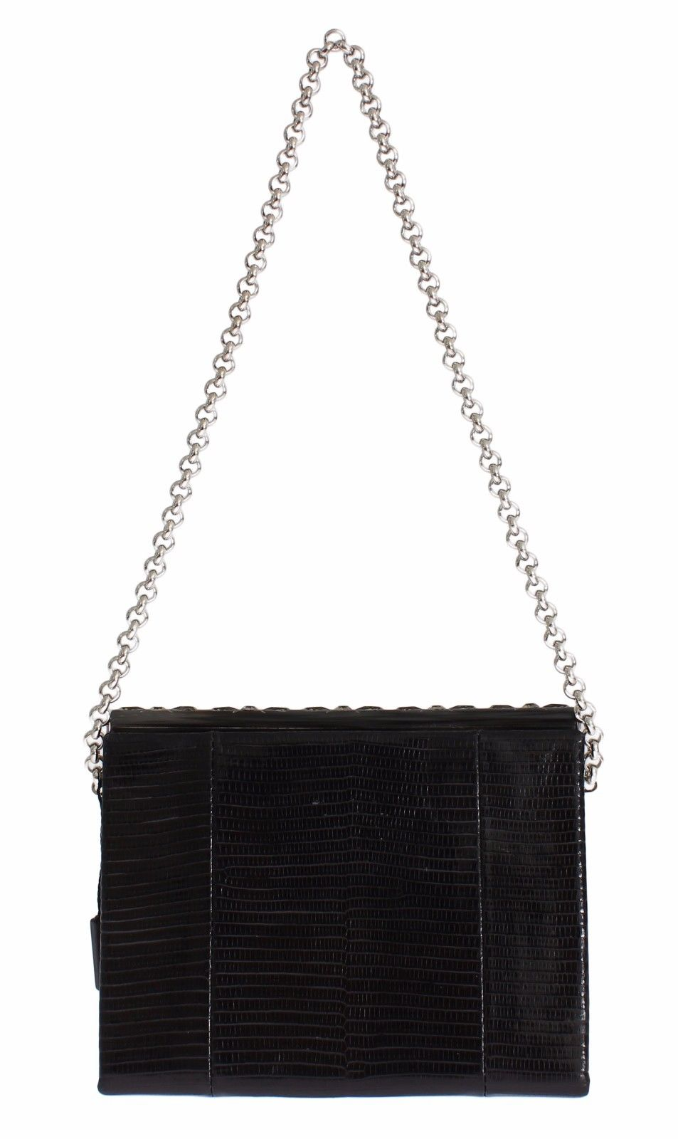 9ab55967bc Bag Black Varano Lizard Shoulder Evening Party Clutch. Dolce   Gabbana