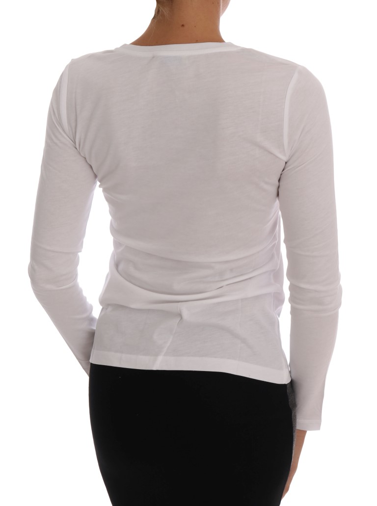 Versace Jeans White Cotton V-neck Pullover Sweater • Stock Fashion ... 28eaf6ccc91