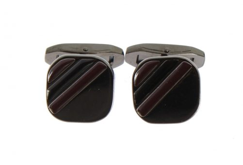 Silver Brass Multicolor Stone Cufflinks, Fashion Brands Outlet