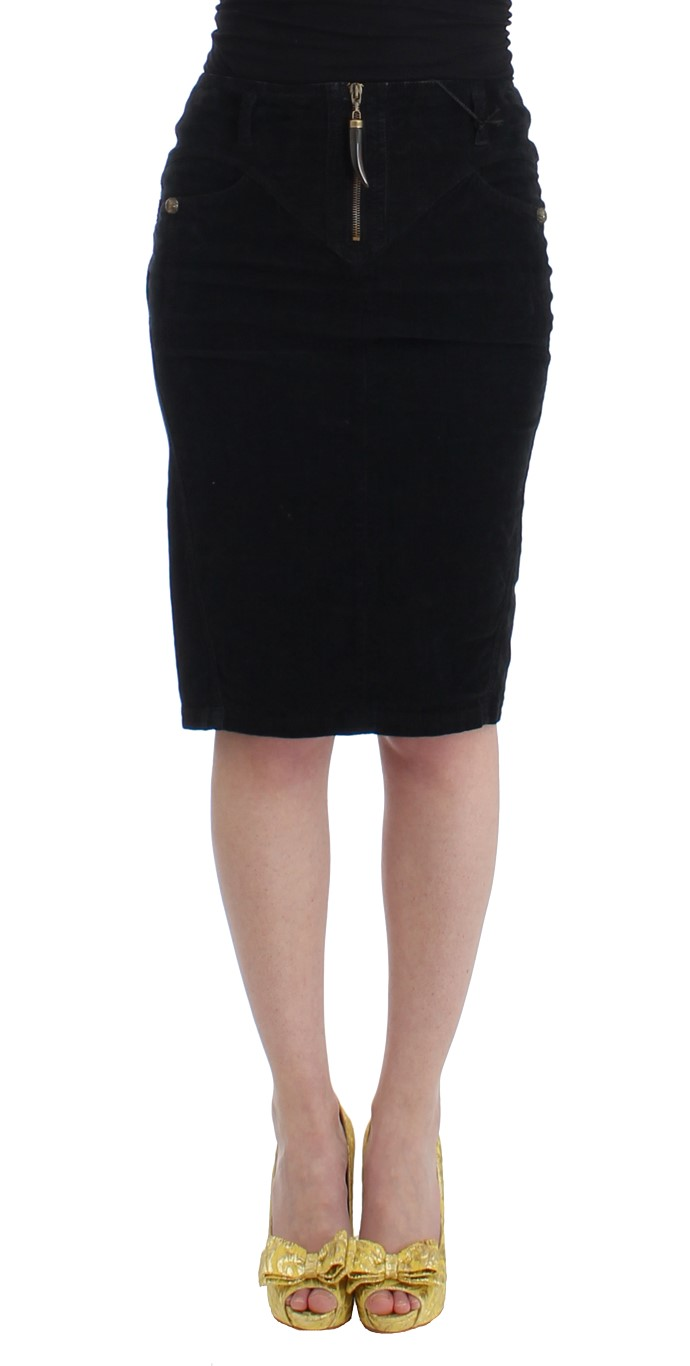 411ac50c81 Cavalli Black corduroy pencil skirt • Top Fashion Brands