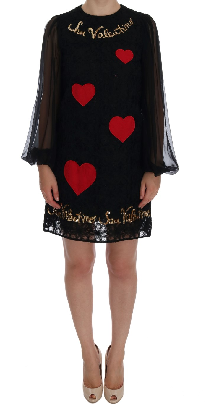 9987d915c63 Dolce   Gabbana Black San Valentino Sequined Shift Dress • Top ...