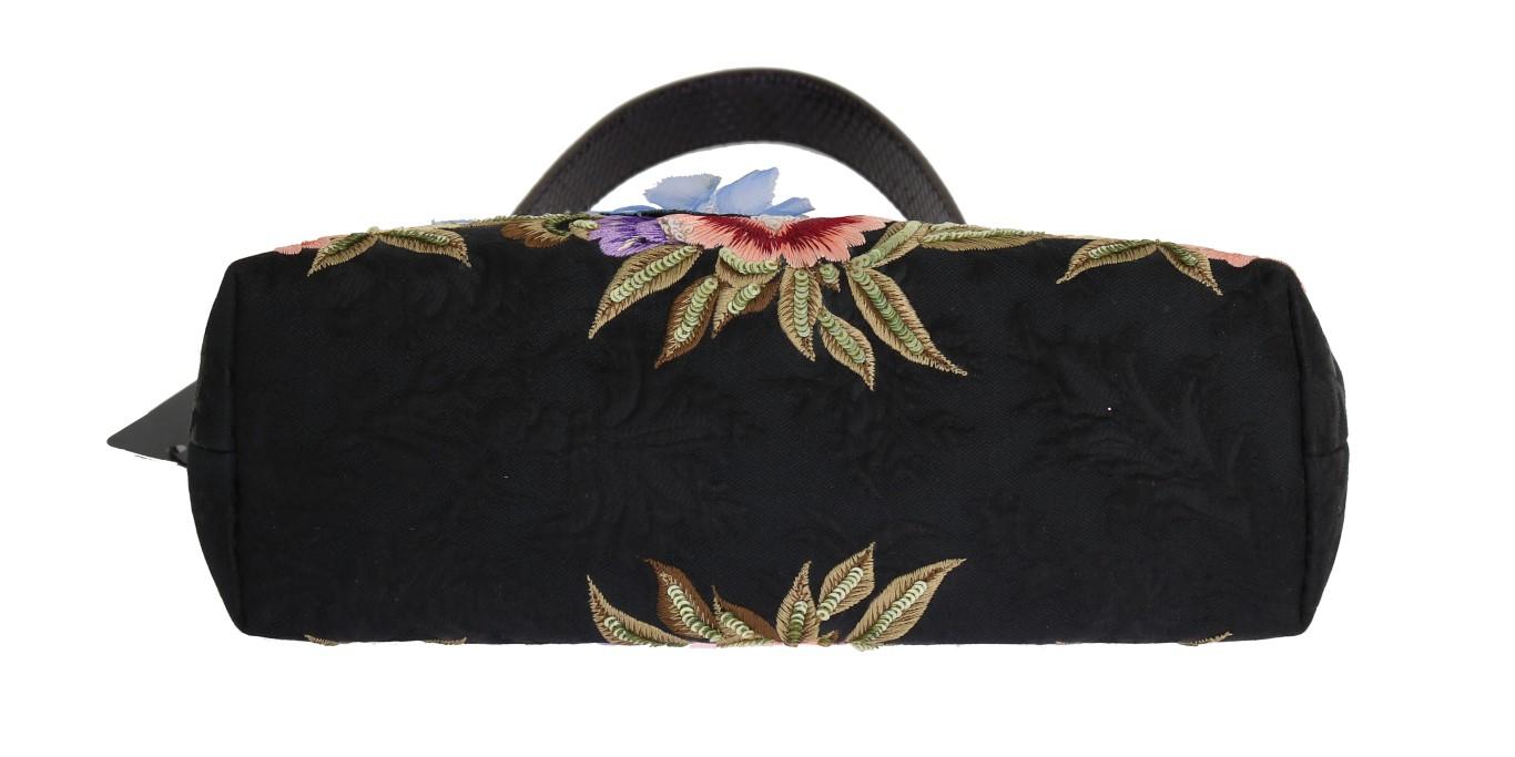 Dolce   Gabbana Multicolor VANDA Crystal Brocade Floral Embroidered ... 85671cfe512