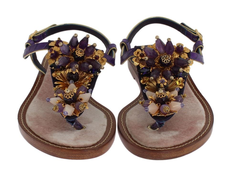 2b0b1459709c ... Flip Flops   Purple Crocodile Crystal Sandals. Sale! 🔍. Dolce   Gabbana
