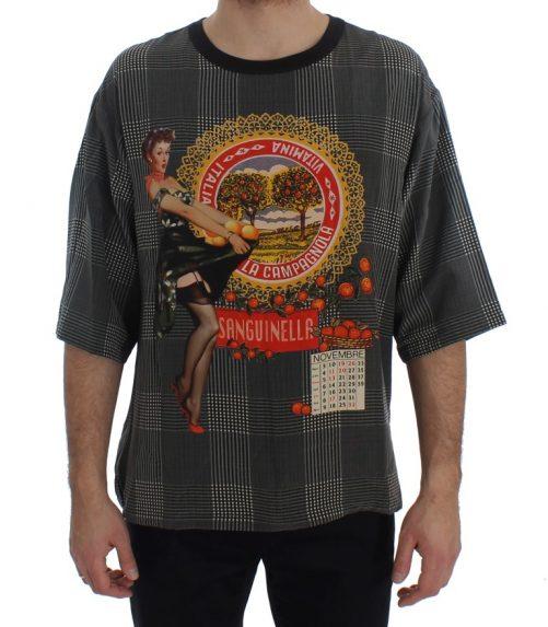 Crewneck SANGUINELLA ITALIA Print Silk T-shirt, Fashion Brands Outlet