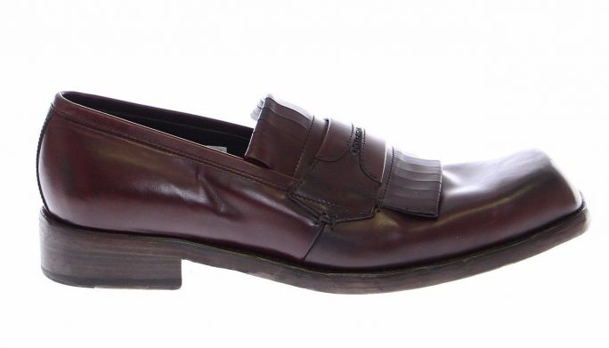47add90a1 Bordeaux Leather Logo Loafers Shoes. $ 997.72 $ 399.54 Dolce & Gabbana