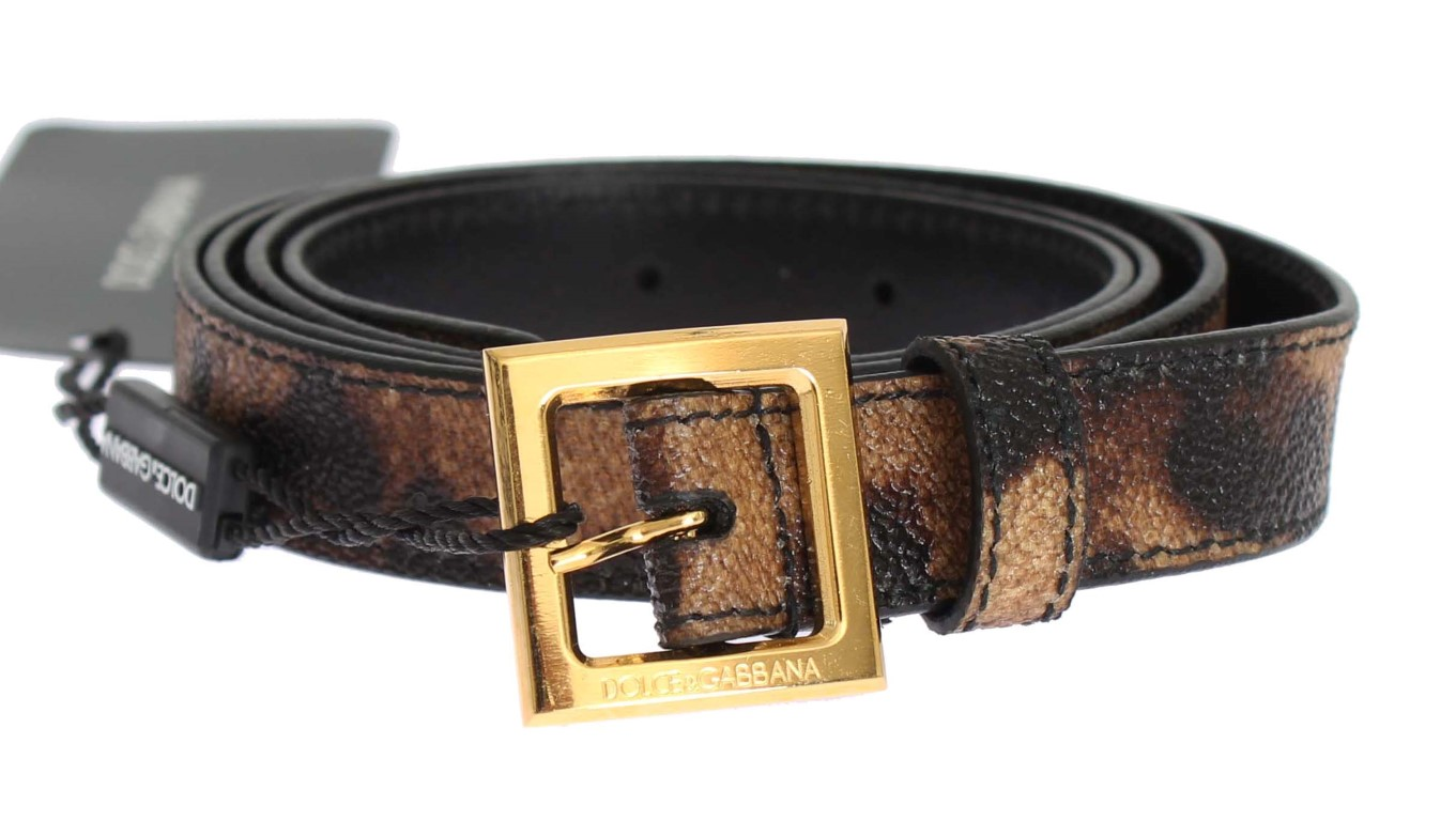 Dolce   Gabbana Brown Leopard Print Gold Buckle Belt • Top Fashion ... 43fbd857b1890