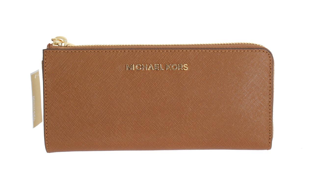 c95e672beda0 Michael kors Brown JET SET TRAVEL Carryall Wallet • Top Fashion Brands