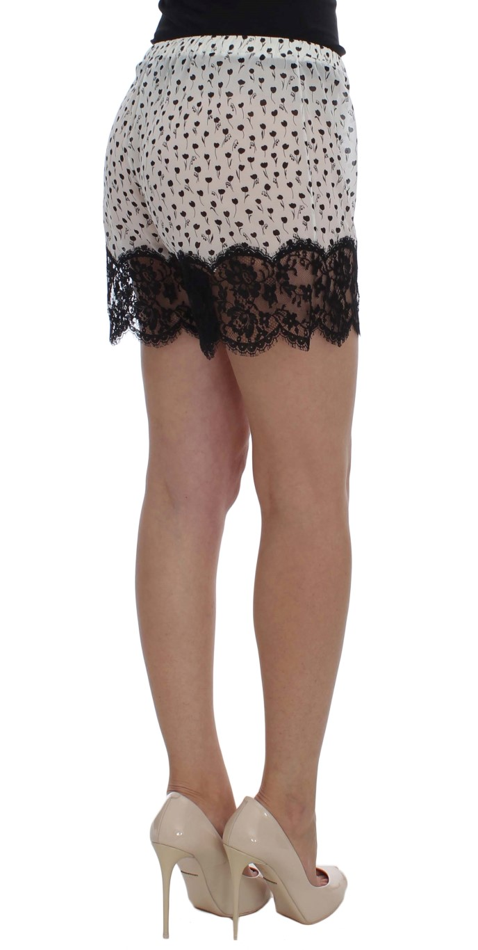 ... White Black Floral Lace Silk Sleepwear Shorts. Sale! 🔍. Dolce   Gabbana 92af170f2