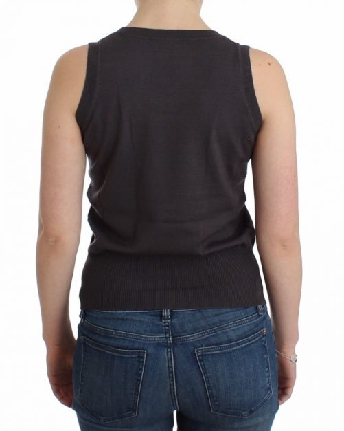 Brown knit tank top, Fashion Brands Outlet