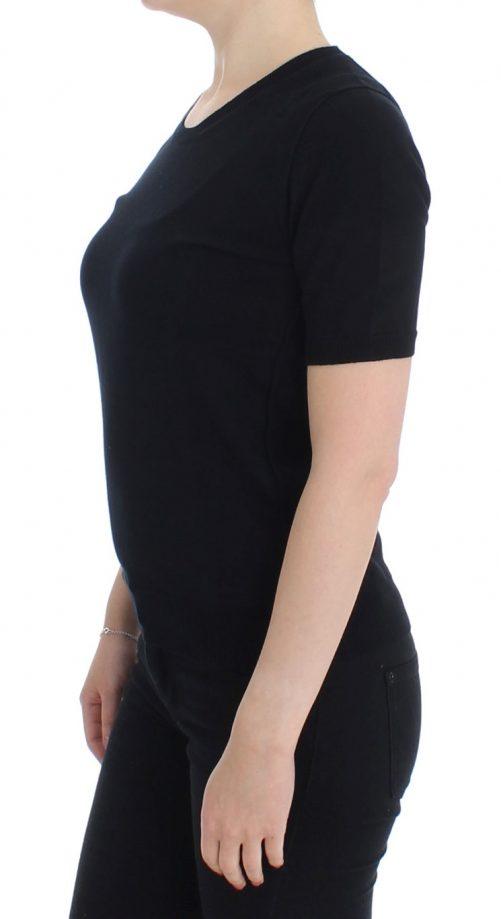 Black Crewneck Sweater T-shirt, Fashion Brands Outlet