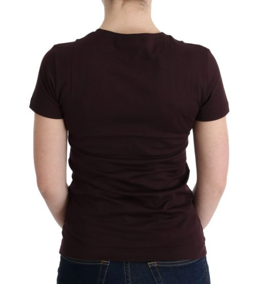 Brown Cotton 2017 Motive T-Shirt, Fashion Brands Outlet