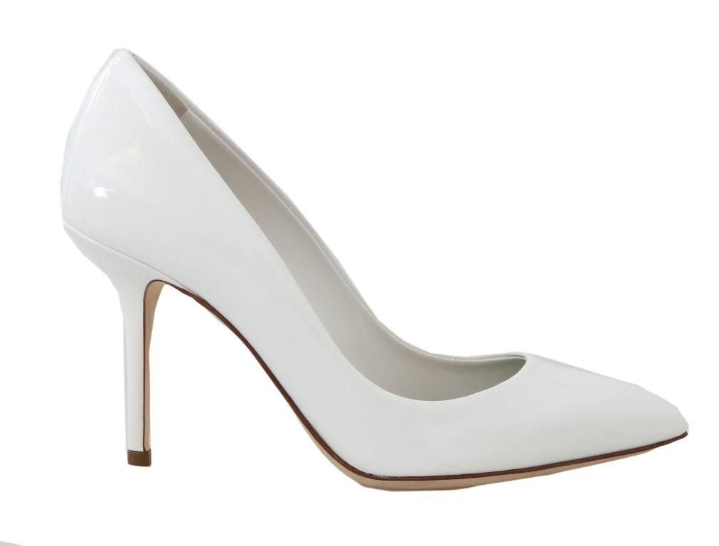 5533e2c4738 Dolce   Gabbana White Patent Leather Pumps • Top Fashion Brands
