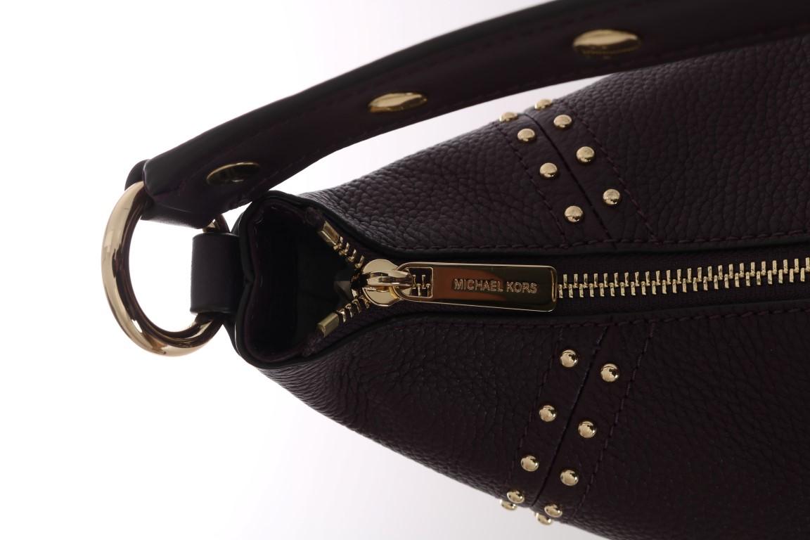 7d7fd07c431a Michael Kors Handbags Bordeaux ARIA Leather Shoulder Bag • Top ...