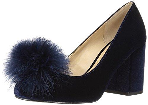 Amazon Brand - The Fix Women's Blakely Block Heel Feather Pom Pump