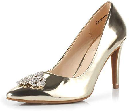 DUNION Women's Appoint Pointed Toe High Heel Stiletto Dress Pump Evening Party Wedding Shoes