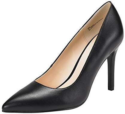 JENN ARDOR Stiletto High Heel Shoes for Women: Pointed, Closed Toe Classic Slip On Pearl Dress Pumps