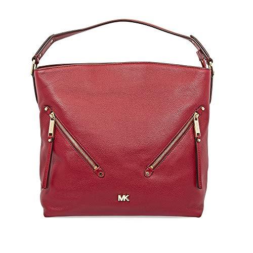 MICHAEL Michael Kors Womens Evie Leather Shoulder Hobo Handbag