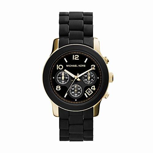 Michael Kors Chronograph Dial Watch - Black/Gold