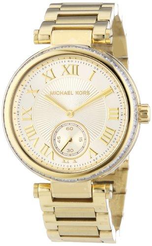 Michael Kors MK5867 Women's Skylar Champagne Dial Gold-Tone Stainless Steel Bracelet Watch