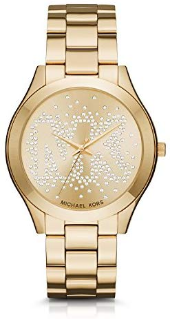 Michael Kors Slim Runway Goldtone Three-Hand Watch