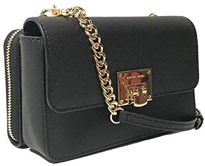 Michael Kors Tina Leather Clutch Crossbody and Detachable Wallet Bag 2in1