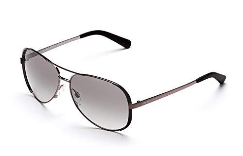 Michael Kors Women's MK5004 Gunmetal/Black/Grey Gradient Sunglasses, 59MM