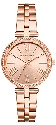 Michael Kors Women's Maci Quartz Watch with Stainless-Steel-Plated Strap, Rose Gold, 16 (Model: MK3904)