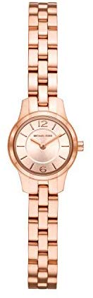 Michael Kors Women's Runway Quartz Watch with Stainless-Steel-Plated Strap