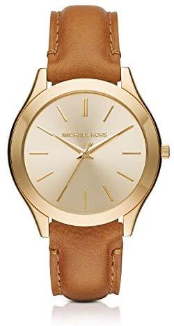 Michael Kors Women's Slim Runway Brown Watch MK2465
