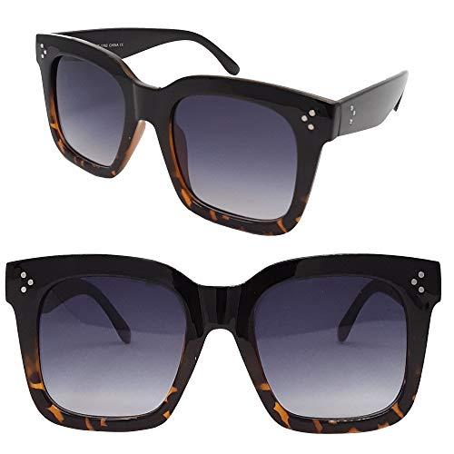 SunMod - Retro Oversized Square Sunglasses for Women Men Unisex UV400 with Flat Lens -SM1116