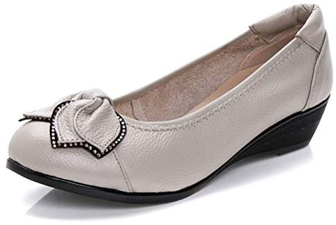 Women's Genuine Leather Comfort Low-Heeled Wedge Pump