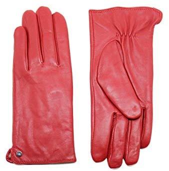 YISEVEN Women's Touchscreen Lambskin Dress Leather Gloves Flat Design Button