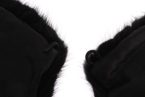 Black Mink Fur Shoulder Collar Scarf, Fashion Brands Outlet