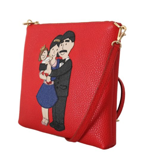 632067 Red Leather Dgfamily Messenger Purse 3.jpg