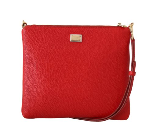 632067 Red Leather Dgfamily Messenger Purse 4.jpg