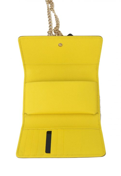 632100 Yellow Sicily Von Crystal Embellished Leather Purse 2.jpg