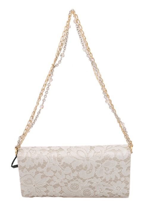 632110 White Pizzo Taormina Lace Crystal Padlock Clutch Bag 2.jpg