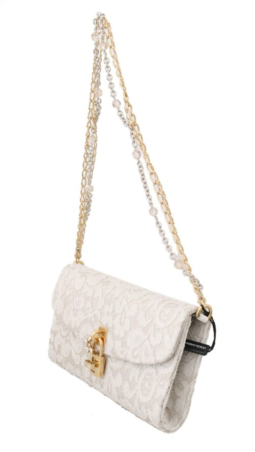 632110 White Pizzo Taormina Lace Crystal Padlock Clutch Bag 3.jpg