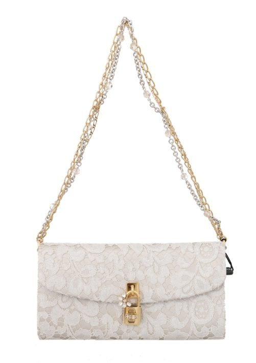 632110 White Pizzo Taormina Lace Crystal Padlock Clutch Bag.jpg
