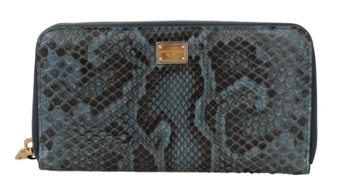 632130 Blue Python Snakeskin Long Continental Clutch Wallet.jpg
