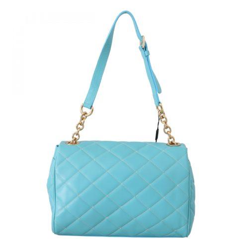 632187 Blue Quilted Leather Hand Shoulder Satchel Purse 1.jpg