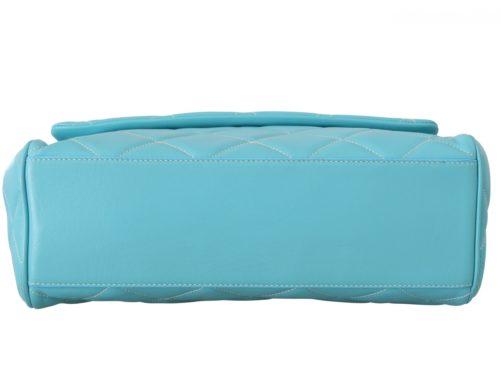 632187 Blue Quilted Leather Hand Shoulder Satchel Purse 2.jpg