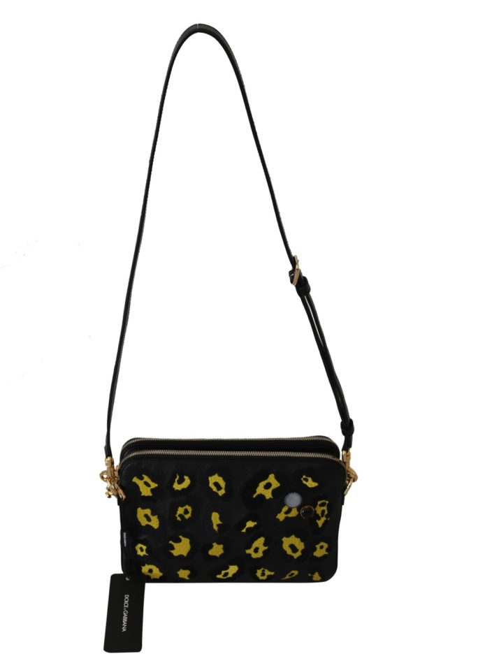 632198 Black Yellow Leopard Shoulder Purse.jpg