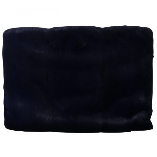 632210 Blue Leather Mink Fur Clutch Handbag 1.jpg
