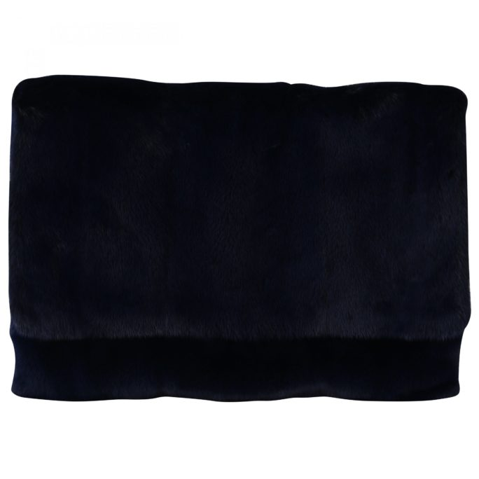 632210 Blue Leather Mink Fur Clutch Handbag.jpg
